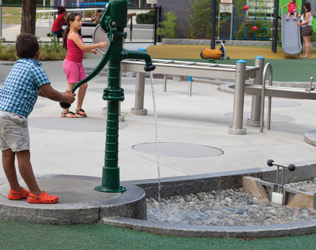outdoor learning water play space