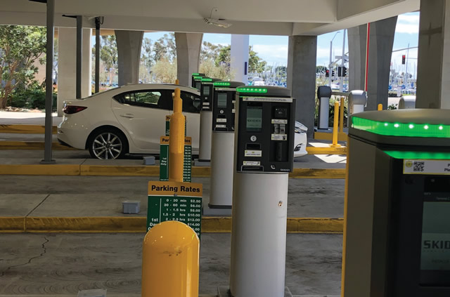 parking payment stations at exit