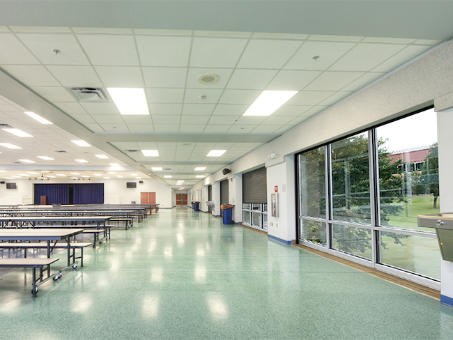 Rolling doors installed in cafeterias can keep schools safe during extreme weather.