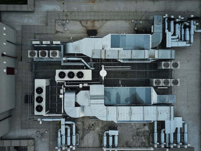 Aerial photo of a building